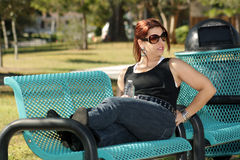 Lovely Casual Redhead Outdoors (4) Royalty Free Stock Photo