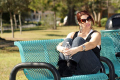 Lovely Casual Redhead Outdoors (5) Stock Photo