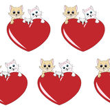 Lovely cats family pattern - background Royalty Free Stock Photos
