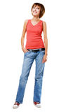 Lovely cheerful girl in casual style clothing Royalty Free Stock Photo