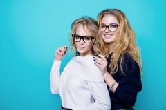 Lovely cheerful girlfriends stock photo