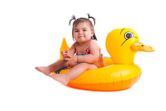 Lovely child with air-toy Stock Photo