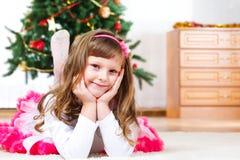Lovely child lying Stock Photo