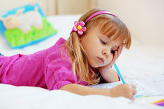 Lovely child painting Royalty Free Stock Image