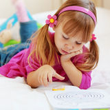 Lovely child painting Royalty Free Stock Photo