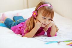 Lovely child painting Royalty Free Stock Photography