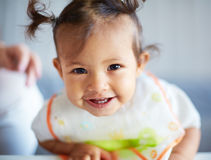 Lovely child. Portrait of a smiling cute toddler Royalty Free Stock Photography