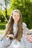 Lovely child with a princess outlook Stock Images