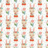 Lovely childish wallpaper in . Royalty Free Stock Image