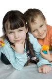 Lovely children. Sister and brother Royalty Free Stock Photos