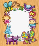 Lovely children frame Stock Photo