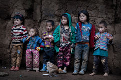 Lovely children of Yi nationality Stock Images