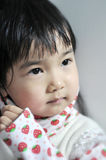 A lovely chinese baby. With beautiful eyes Royalty Free Stock Images