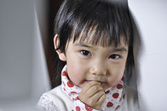 A lovely chinese baby. With beautiful eyes Royalty Free Stock Image
