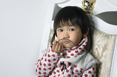 A lovely chinese baby. With beautiful eyes Stock Photo