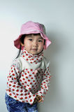 A lovely chinese baby. With cap Royalty Free Stock Photo