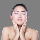 Lovely chinese girl with healthy face Royalty Free Stock Photo