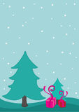 Lovely christmas background design Royalty Free Stock Image