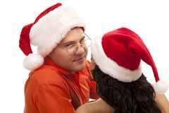 Lovely Christmas couple Royalty Free Stock Image