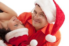 Lovely Christmas couple Royalty Free Stock Photos
