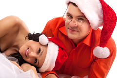 Lovely Christmas couple Royalty Free Stock Photo