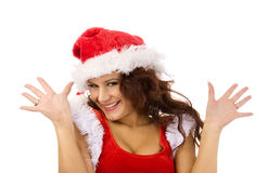 Lovely christmas girl Stock Photography