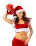 Lovely christmas girl Stock Images