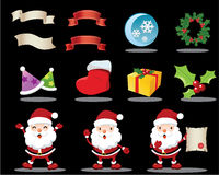 Lovely Christmas Icons Stock Image