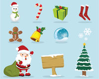 Lovely Christmas Icons Royalty Free Stock Photo