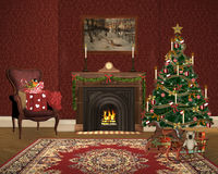 Lovely christmas illustration Royalty Free Stock Images