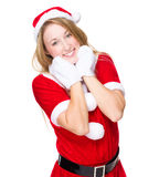 Lovely Christmas lady Stock Photos