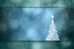 Lovely Christmas tree greeting card illustration background Royalty Free Stock Image