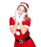 Lovely Christmas woman Stock Photo