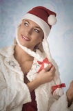Lovely christmas woman Stock Photography