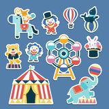 Lovely circus collection set Royalty Free Stock Image