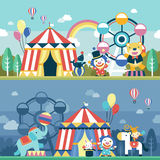 Lovely circus performance scene set Stock Photography