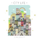 Lovely city life scenery Royalty Free Stock Photo