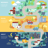 Lovely city road map Royalty Free Stock Photography
