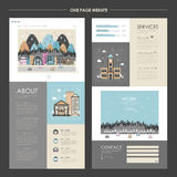 Lovely cityscape one page website design Royalty Free Stock Photo