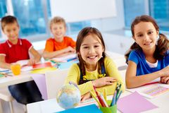 Lovely classmates Royalty Free Stock Photo