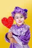 Lollipop heart Stock Image