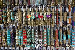 Lovely colored stone jewelry and beads. Royalty Free Stock Images
