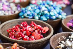 Lovely colored stone jewelry and beads. Royalty Free Stock Image