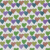 Lovely colorful heart  background Royalty Free Stock Photos