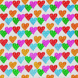 Lovely colorful heart  background Royalty Free Stock Photography