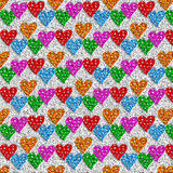 Lovely colorful heart  background Stock Photography