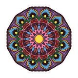 Lovely colorful mandala 4. Lovely colorful mandala with intricate pattern Royalty Free Stock Photography