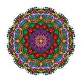 Lovely colorful mandala 1. Lovely colorful mandala with intricate pattern Stock Photography