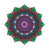 Lovely colorful mandala 3. Lovely colorful mandala with intricate pattern Stock Images