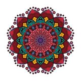 Lovely colorful mandala 5. Lovely colorful mandala with intricate pattern Royalty Free Stock Image